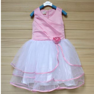 26-69-Flower princess dress -pink
