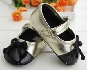 31-129-Gold Butterfly Cord Princess Shoes