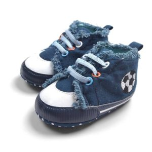 31-65-Navy Football slip toddler shoes