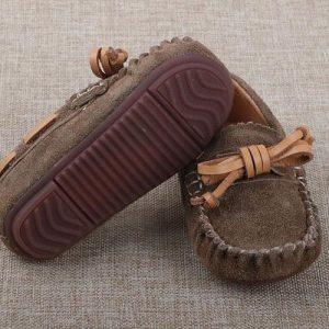 32-34-Leather Khaki Shoes