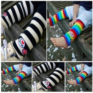 44-11-I Love Mom Stripe Socks