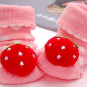 44-12-3D Anti-Slip Socks-Strawberries