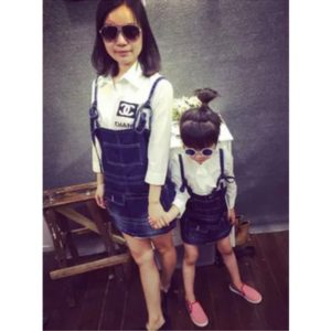 52-45-Jeans Strap Skirt 1 pcs- Kids