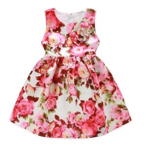 52-51-Flowers cotton dress