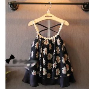 52-60-Chiffon tape vest dress