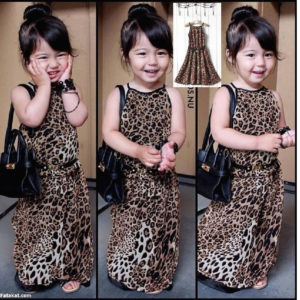 54-2-Leopard Halter Dress With Belt