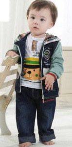 56-61-Long-sleeved hooded Jacket 3pcs