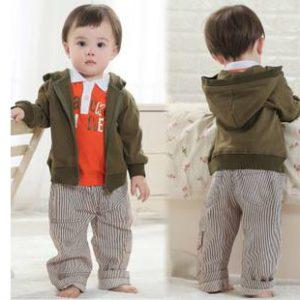 56-63-Long sleeve hooded Jacket pants 3pcs