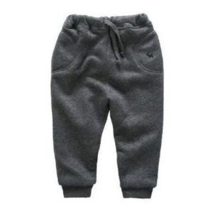 59-3-Thick warm cotton pants - gray