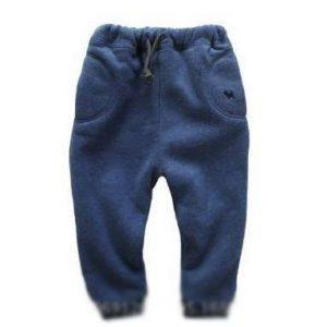 59-4-Thick warm cotton pants - blue