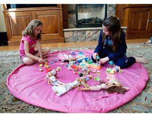 66-12-Baby Toy Fast Storage Bag - Pink