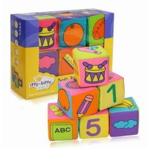 67-24-Soft Rattle Blocks 6 Pcs/Set