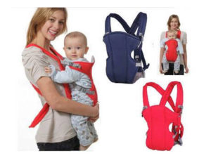 68-10-Double shoulder baby backpack-Red