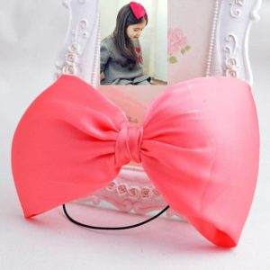 72-12-Large bow hair band -watermelon red
