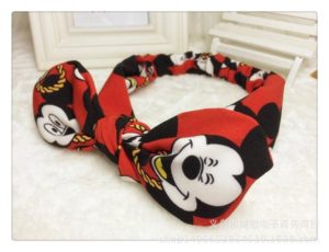 72-20-Mickey cloth rabbit ears hair bands