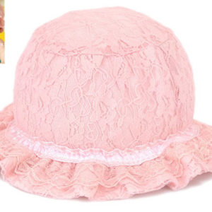 77-178-Princess lace cap - pink and Bloodfang color