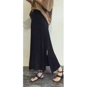 88-179-Both sides split ends long skirt