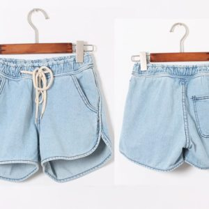88-186-Loose denim shorts