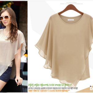 88-217-Short-sleeved chiffon shirt