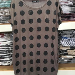 88-228-Polka Dot short-sleeved Dress