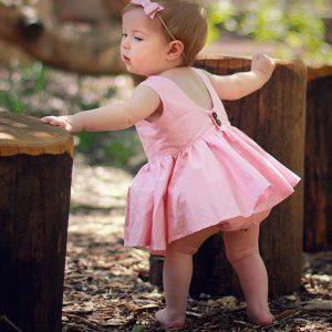 20-103-Pink dots dress 2pcs