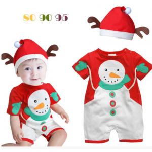 25-45-Santa Claus Romper with cap