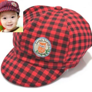 77-163-Owl standard baseball cap-red