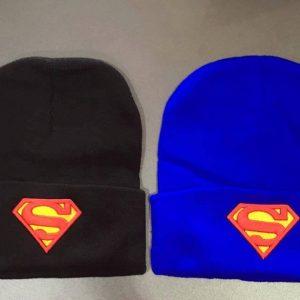 77-189-Superman head cap Blue