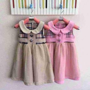 26-52-Princess plaid dress-pink