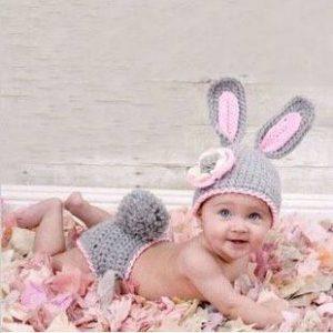 71-75-Handmade baby bunny suit
