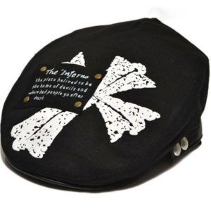 77-165-Cross Printing Cap - Black