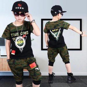 58-5-Camouflage short sleeve 2pcs