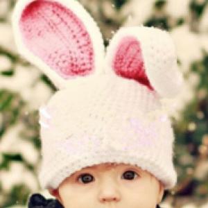 77-60-Big ears rabbit hat
