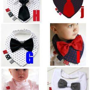 73-5-Black Dot Black Tie Bib -H