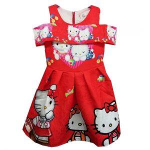 52-144-HELLO KITTY Red Dress