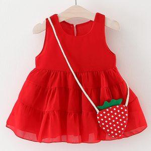 20-105-Red dress strawberry bag