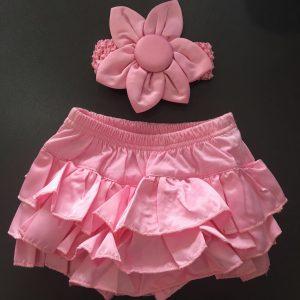 20-56-Cute PP Pants & Headband 2 Pcs - Pink
