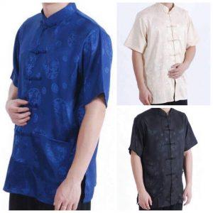 87-1-Men's short sleeve Tang suit