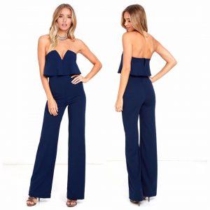 88-298-Blue Sexy Jumpsuit