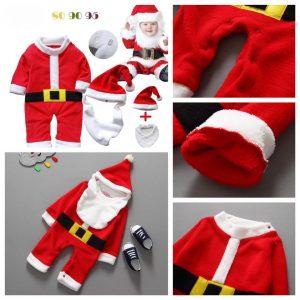 25-44-Bellne Christmas Romper with cap