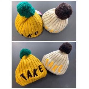 77-130-TAKE wool cap-yellow