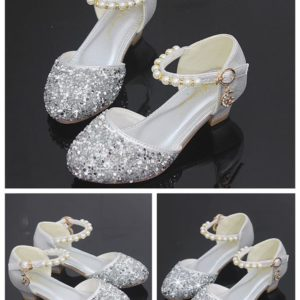 34-7-Silver princess shoes