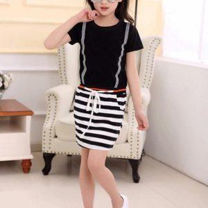 54-10-Striped ladies Dress