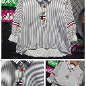56-134-Shirt striped long sleeve