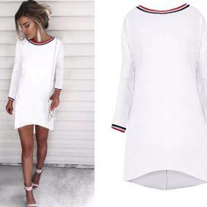 88-314-White long sleeve dress