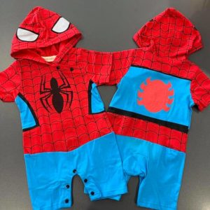 24-43-Spiderman Hooded Romper