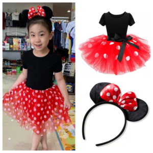 52-149-Polka Dot Dress With Headband
