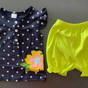 20-97-Dot shirt short pants 2pcs