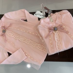 49-5-Lace long-sleeved T-shirt