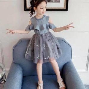 26-142-Off-shoulder lace dress